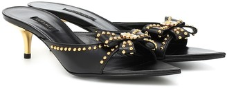 Versace Embellished leather sandals