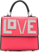 Les Petits Joueurs Mini Alex Silver Love Leather Backpack