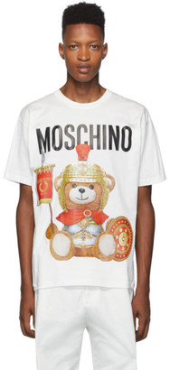 Moschino White Gladiator Teddy T-Shirt