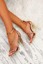 Pink Boutique Roxanna Rose Gold Metallic Heels