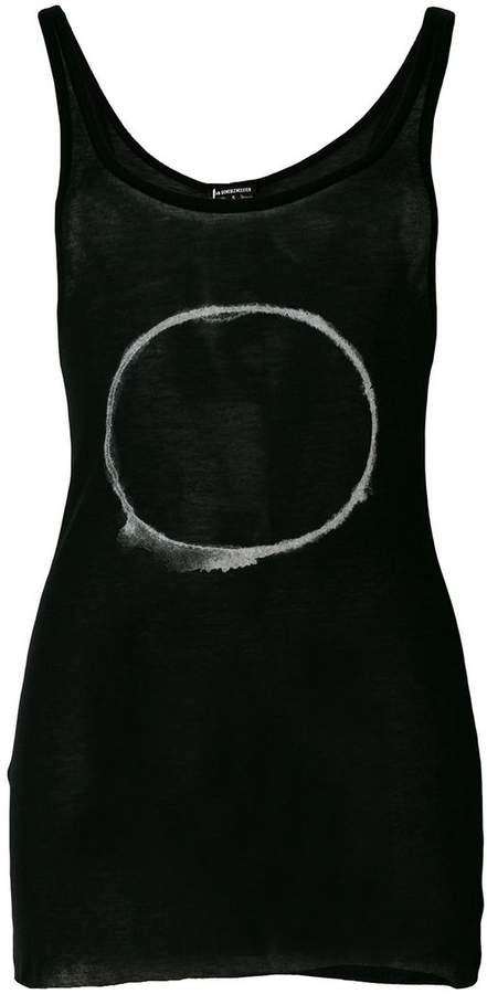 Ann Demeulemeester smudged circle print vest top