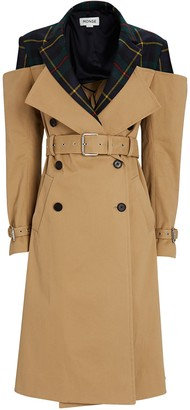 Monse Deconstructed Off-The-Shoulder Trench Coat