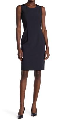 HUGO BOSS Dristie Stretch Wool Sheath Dress
