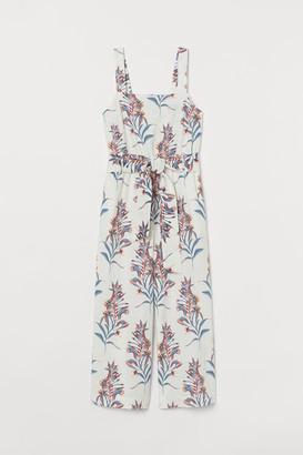 H&M Linen-blend Jumpsuit