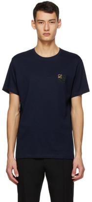 Loewe Navy Anagram Embroidered T-Shirt