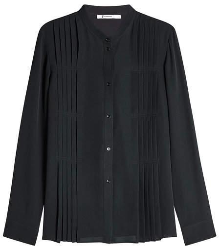 Alexander Wang Silk Blouse with Pleats