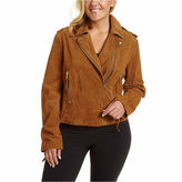 Excelled Leather Excelled Asymmetrical Suede Moto Jacket - Plus