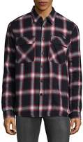 Saks Fifth Avenue Men's Plaid Cotton Button-Down Shirt