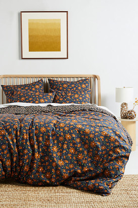 Anthropologie Agnes Organic Percale Duvet Cover By in Orange Size TW TOP/BED