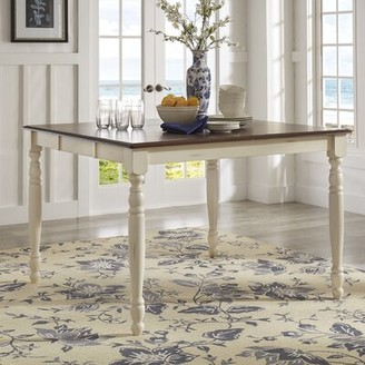 Three Posts Itchington Butterfly Rubberwood Solid Wood Leaf Dining Table Finish: Antique White/Cherry