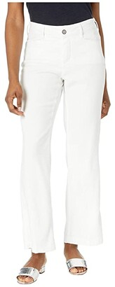 NYDJ Petite Petite The Trouser (Optic White) Women's Casual Pants