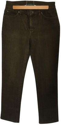 Lauren Ralph Lauren Khaki Cotton - elasthane Jeans for Women