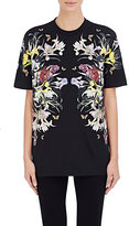Givenchy Women's Floral Jersey T-Shirt-BLACK