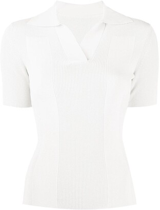 Jacquemus Polo open back knitted top