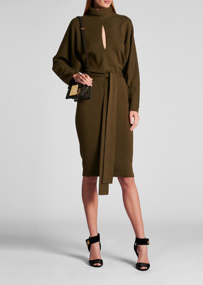 Tom Ford Cashmere Keyhole-Neck Sweater Dress