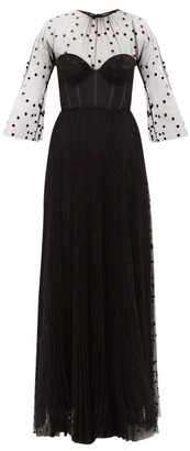 Maria Lucia Hohan Natalie Boned-bodice Polka Dot-tulle Dress - Black