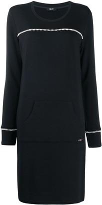 Liu Jo Pearl-Embellished Shift Dress