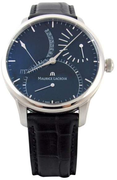 Maurice Lacroix Masterpiece MP6508 Black Dial Stainless Leather 44mm Mens Watch