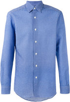Ermenegildo Zegna geometric weave long sleeve shirt