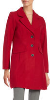 CeCe Notched Collar Wool Blend Coat