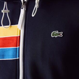 Lacoste Men's SPORT Hooded Colorblock Fleece Zip Sweatshirt