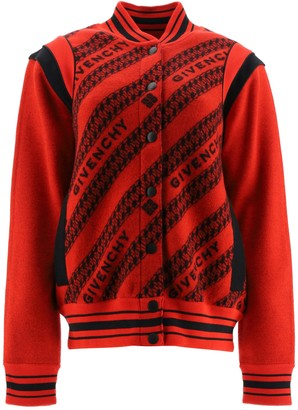 Givenchy TEDDY JACKET WITH LOGO S Red, Black Wool