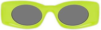 Loewe Yellow and White Paulas Ibiza Square Sunglasses