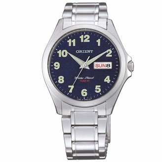 Orient Unisex Adult Analogue Quartz Watch with Stainless Steel Strap FUG0Q008D6