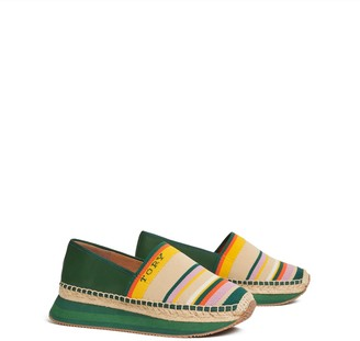 Tory Burch DAISY MIXED-MATERIAL SLIP-ON SNEAKER