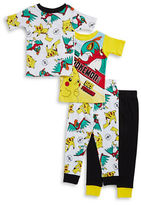 AME Sleepwear Little Boys Four-Piece Pokemon Pajama Set