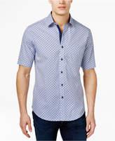 Tasso Elba Men's Print Short-Sleeve 100% Cotton Shirt, Created for Macy's
