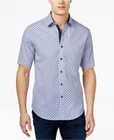 Tasso Elba Men's Print Short-Sleeve 100% Cotton Shirt, Only at Macy's