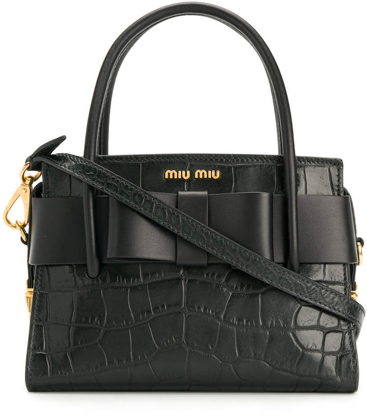 Miu Miu Madras Top Handle tote