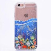 """Iphone 6 plus/6s plus Funny Case,Jesiya Cute Sea Fish Quicksand Moving Floating Sparkle Powder Hard Liquid Glitter Case Glow In The dark Shell Cover For Iphone 6 plus/6s plus 5.5"""""""