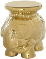 Safavieh Gold Glazed Ceramic Elephant Stool - Gold