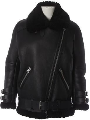 Acne Studios Black Shearling Coat for Women