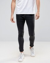 Selected Homme+ Jeans In Skinny Fit Grey Denim