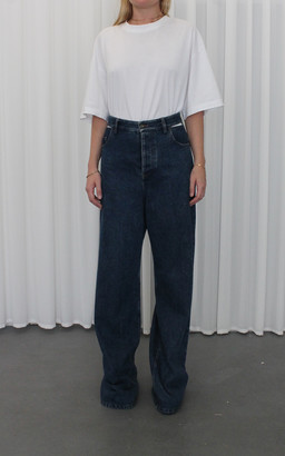 Y/Project Peep Show Cutout Rigid High-Rise Wide-Leg Jeans