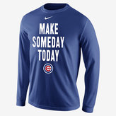 "Nike Make Someday Today"" (MLB Cubs) Men's Long Sleeve Shirt"