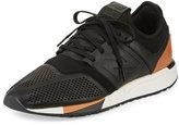 New Balance Men's 247 Luxe Trainer Sneaker, Black/Brown
