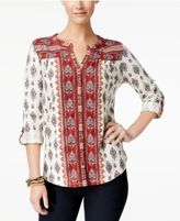 Style&Co. Style & Co Petite Printed Tunic Shirt, Only at Macy's