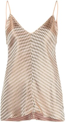 Forte Forte Houndstooth Print Top