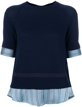 Moncler Shirt Detail Knitted Top