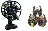 True Fabrications Movie Reel Wine Holder and Horseshoe Wine Rack, Set of 2