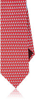Salvatore Ferragamo Men's Sailboat-Print Silk Necktie