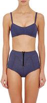 Lisa Marie Fernandez Women's Denim Genevieve Bikini-BLUE