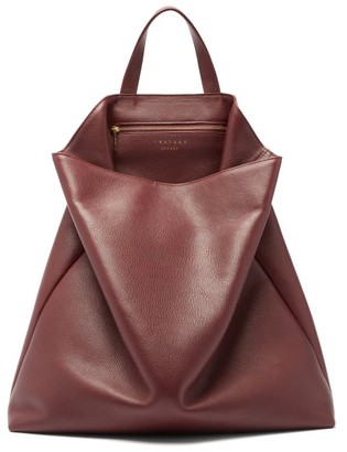 Tsatsas Fluke Grained-leather Tote Bag - Womens - Burgundy