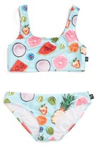 Girl's Terez Tropical Fruit Print Two-Piece Swimsuit