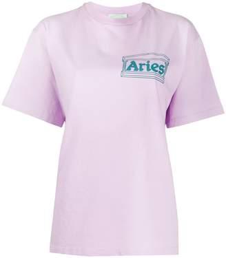 Aries oversized logo print T-shirt