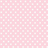 BABYBJÖRN SheetWorld Fitted Sheet (Fits Travel Crib Light) - Pastel Pink Polka Dots Woven - Made In USA - 24 inches x 42 inches (61 cm x 106.7 cm)